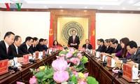 Staatspräsident Tran Dai Quang führt Sitzung mit Leitung der Provinz Thanh Hoa