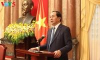 Staatspräsident Tran Dai Quang gibt Presse Russlands und Weißrusslands Interview