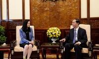 Staatspräsident Tran Dai Quang trifft Polens Botschafterin Barbara Szymanowska