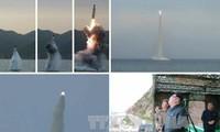 朝鲜成功试射潜射弹道导弹