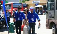 """数千名青年志愿者参加""""上学接力""""步行活动"""