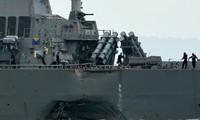 Collision au large de Singapour: 10 marins américains portés disparus