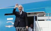 Le SG du PCV Nguyen Phu Trong en route pour l'Indonésie et le Myanmar