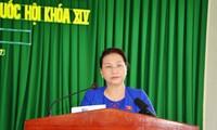 La présidente de l'Assemblée nationale rencontre l'électorat de Can Tho