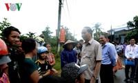 Tran Dai Quang inspecte les travaux pour remédier aux conséquences du typhon Damrey