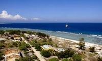 Vertreter der Marine besucht die Da Tay Insel in der Spratly-Inselgruppe