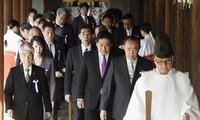 Südkorea und China kritisieren den Schrein-Besuch von japanischen Abgeordneten