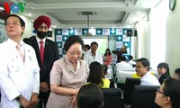 Vize-Staatspräsidentin Doan besucht Krankenhaus Hoan My in Danang