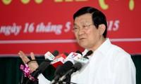 Staatspräsident Truong Tan Sang trifft Wähler von Ho Chi Minh Stadt