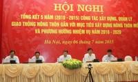Konferenz über Verkehrsbau- und –verwaltung in ländlichen Gebieten