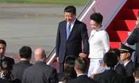 Staatspräsident Chinas beginnt seinen USA-Besuch