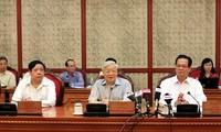 Politbüro bereitet sich auf Parteisitzungen der Zentralparteileitungen vor