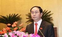 Staatspräsident Tran Dai Quang besucht Provinz Ninh Binh