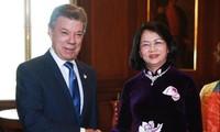 Vize-Staatspräsidentin Dang Thi Ngoc Thinh besucht Kolumbien