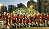 Zeremonie für Hissen der vietnamesischen Flagge bei den Olympischen Spielen 2016