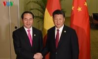 Staatspräsident Tran Dai Quang trifft APEC-Staats- und Regierungschefs