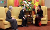 Parlamentspräsidentin Nguyen Thi Kim Ngan empfängt Kaiser und Kaiserin Japans