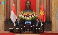 Staatspräsident Tran Dai Quang empfängt Singapurs Premierminister Lee Hsien Loong