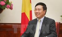 Vizepremierminister, Außenminister Pham Binh Minh besucht Südkorea