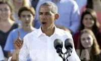 Presiden Barack Obama mengimbau kepada para pemilih untuk memanifestasikan tanggung jawab melalui suara