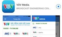 """Cara menggunakan fitur """"VOV Media"""" untuk mendengarkan acara VOV di ponsel pintar dan tablet"""