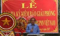Acara memasang prasasti peringatan Koran Giai Phong