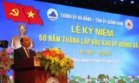 PM Vietnam, Nguyen Xuan Phuc menghadiri acara peringatan ultah ke-50 Komite Partai Zona Istimewa Quang Da