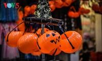 Kota Hanoi menjelang Festival Halloween