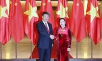 Ketua MN Vietnam, Nguyen Thi Kim Ngan melakukan pertemuan dengan Sekjen, Presiden Tiongkok, Xi Jinping