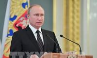 Putin condemns economic sanctions against Russia