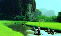 Tam Coc bathed in afternoon sunlight