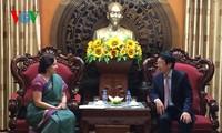 Tổng Giám đốc Đài Tiếng nói Việt Nam Nguyễn Đăng Tiến tiếp Đại sứ Ấn Độ