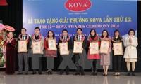 Trao giải thưởng và học bổng KOVA lần thứ 12