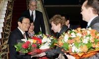 Chủ tịch nước Trương Tấn Sang trả lời phỏng vấn kênh truyền hình Nước Nga