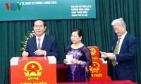 Chủ tịch nước Trần Đại Quang bỏ phiếu bầu cử Quốc hội