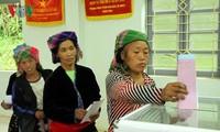 Hơn 69 triệu cử tri cả nước đã và đang cầm trên tay lá phiếu để bầu cử