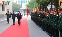 Chủ tịch nước Trần Đại Quang dự lễ kỷ niệm 50 năm ngày truyền thống Học viện Kỹ thuật Quân sự