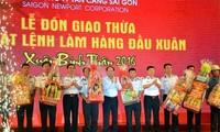 Tổng Công ty Tân cảng Sài Gòn: Phát lệnh làm hàng xuân Đinh Dậu