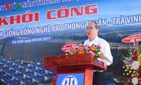 Lễ khởi công Trung tâm sản xuất tôm giống công nghệ cao tại Trà Vinh