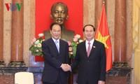 Chủ tịch nước Trần Đại Quang tiếp Xã trưởng Tân Hoa xã Thái Danh Chiếu