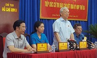 Tổng Bí thư Nguyễn Phú Trọng tiếp xúc cử tri quận Hai Bà Trưng, Hà Nội