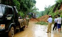 Huy động các lực lượng chức năng khắc phục hậu quả thiên tai do mưa lũ và sạt lở đất