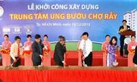 Thủ tướng Nguyễn Tấn Dũng dự lễ khởi công trung tâm ung bướu Bệnh viện Chợ Rẫy