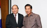 Phó Thủ tướng Nguyễn Xuân Phúc tiếp Phó Thủ tướng Cộng hòa Dân chủ nhân dân Lào