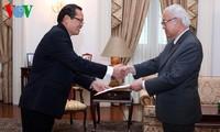 Đại sứ Việt Nam tại Singapore trình Quốc thư