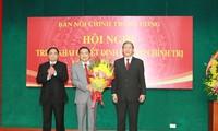 Công bố quyết định của Bộ Chính trị về bổ nhiệm Trưởng Ban Nội chính Trung ương