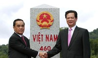 Việt - Lào tổng kết Dự án tăng dày và tôn tạo hệ thống mốc quốc giới