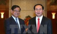 Chủ tịch nước Trần Đại Quang tiếp Phó Thủ tướng Campuchia Sar Kheng
