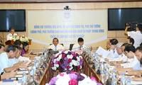 Phó Thủ tướng Trương Hòa Bình làm việc với Bộ Tư pháp