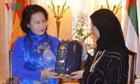 Chủ tịch QH Nguyễn Thị Kim Ngân hội kiến Chủ tịch Hội đồng quốc gia Liên bang UAE